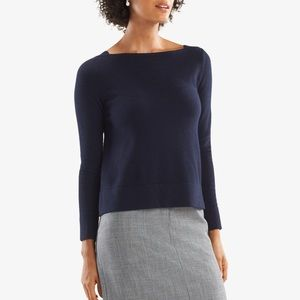 Mm lafleur kendall 100% cashmere navy sweater xs